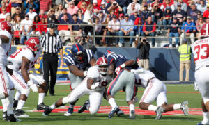 during the Alabama at Ole Miss game. Photo by Cedric Mason