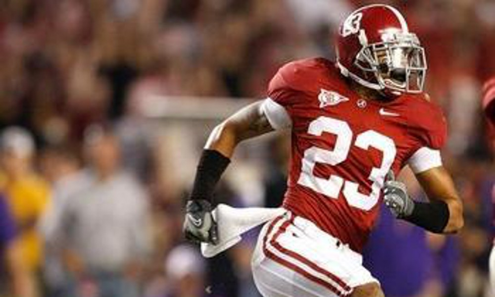 Former Alabama DB Robby Green (No. 23) in Crimson Tide's 2009 game versus Louisiana State University: Photo via Green