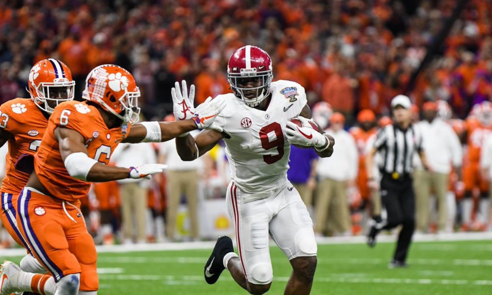 Bo scarbrough running against clemson
