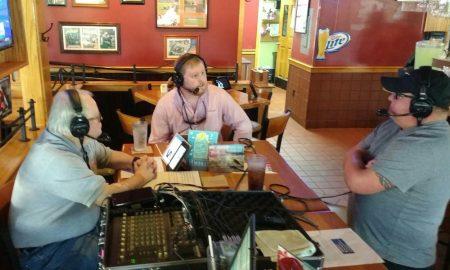 Clint Lamb doing radio interview