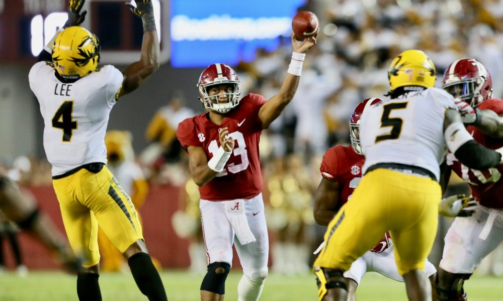 a5c431116 Alabama QB Tua Tagovailoa to open 2019 season with best Heisman odds