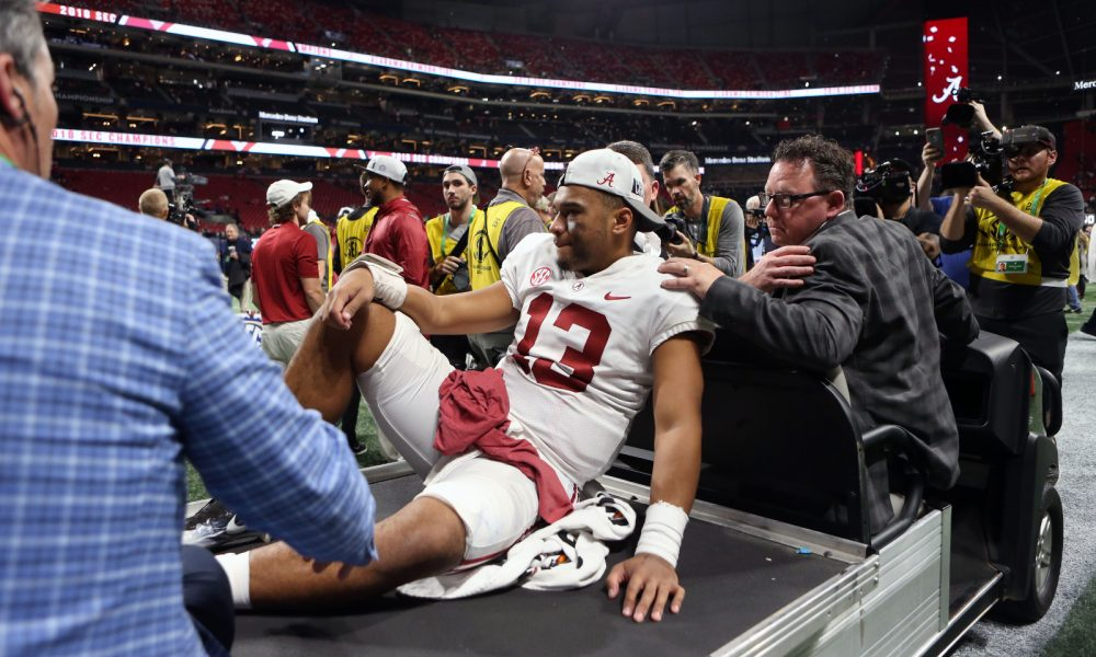 Should Jalen Hurts begin CFP after recovering from Tagovailoa? - Touchdown Alabama magazine