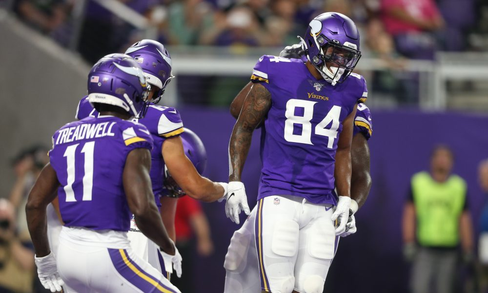 various colors 88d12 be493 Vikings TE Irv Smith Jr. sets franchise rookie receiving record