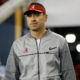 Steve Sarkisian takes the field as Alabama's OC during 2017 CFP National Championship Game versus Clemson