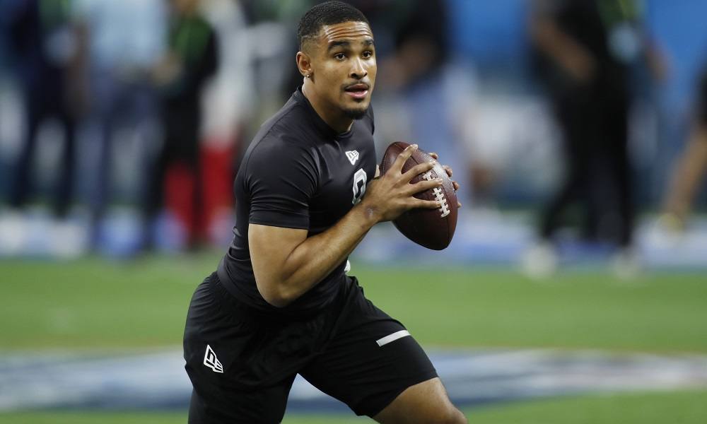 Jalen Hurts at NFL combine
