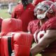 Labryan Ray at Alabama football fall camp day 6