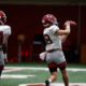 Slade Bolden makes the catch at Alabama 2020 fall practice