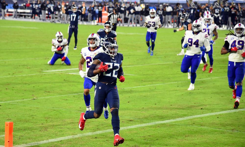 Derrick Henry scores rushing touchdown for Titans versus Bills