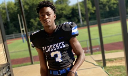 Jahlil Hurley poses for picture in #3 Florence Jersey
