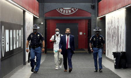 Nick Saban walks through Alabama tunnel before Georgia game