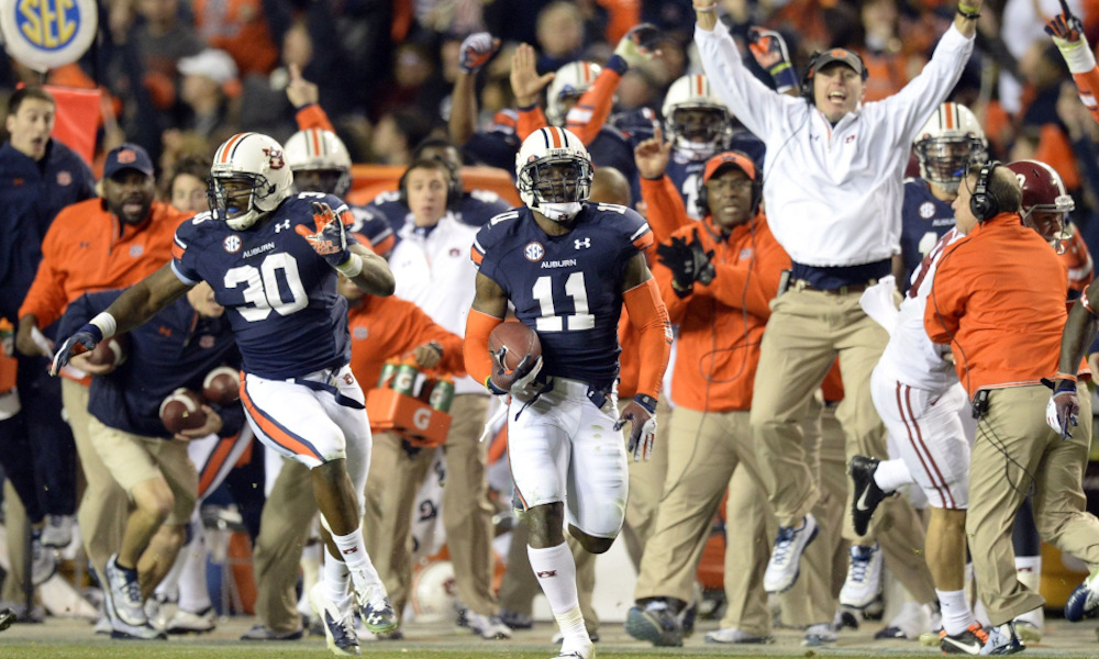 A Look At 2013 Iron Bowl An Iconic Kick Six Shocks Alabama Cfb World