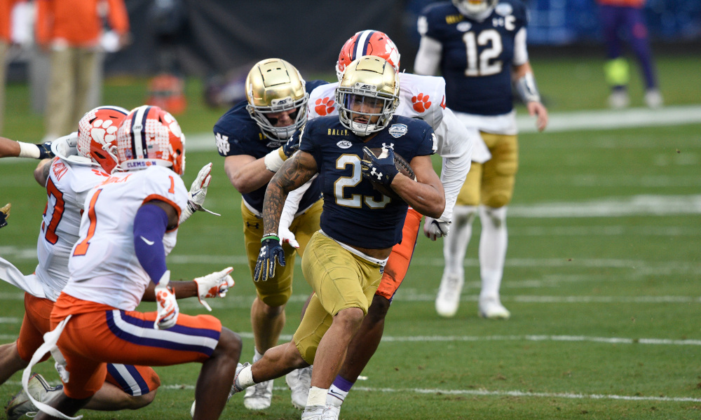 Notre Dame wants to establish its rushing attack versus Alabama in Rose Bowl