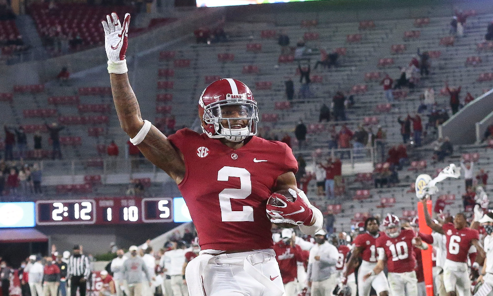 Patrick Surtain II of Alabama with a pick-six versus Miss. State