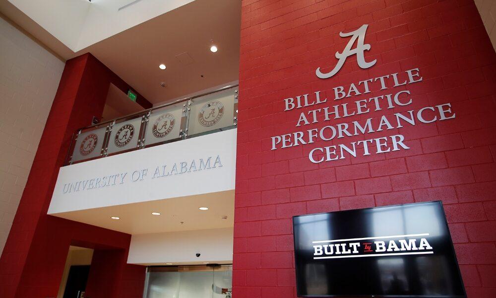 Alabama unveils new logo of Bill Battle facility