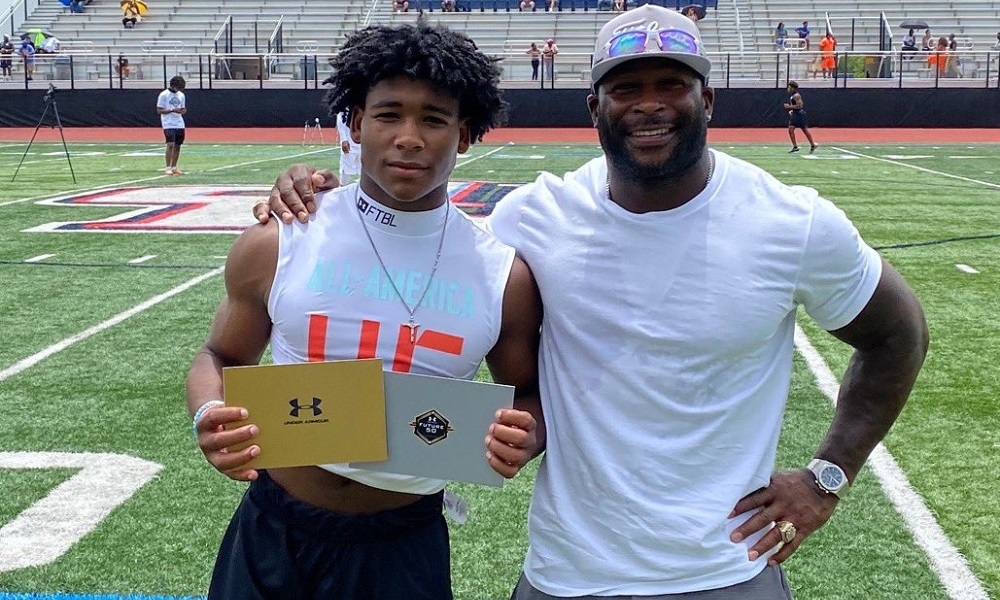 Justice Haynes poses for picture at Under Armour Camp