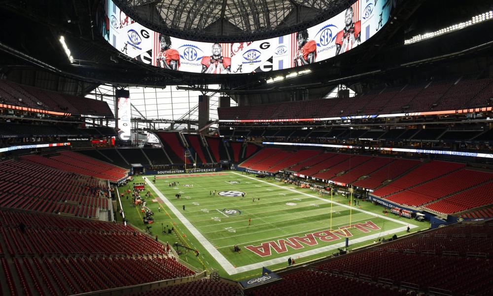 Inside Mercedes-Benz Stadium for Alabama versus Georgia SEC title game from 2018