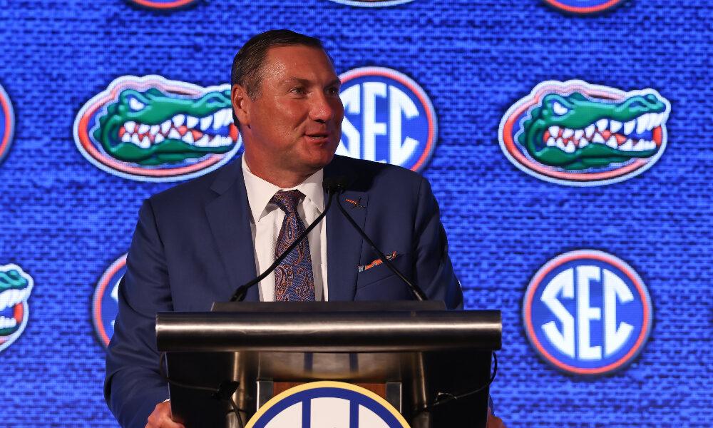 Florida HC Dan Mullen speaks at 2021 SEC Media Days