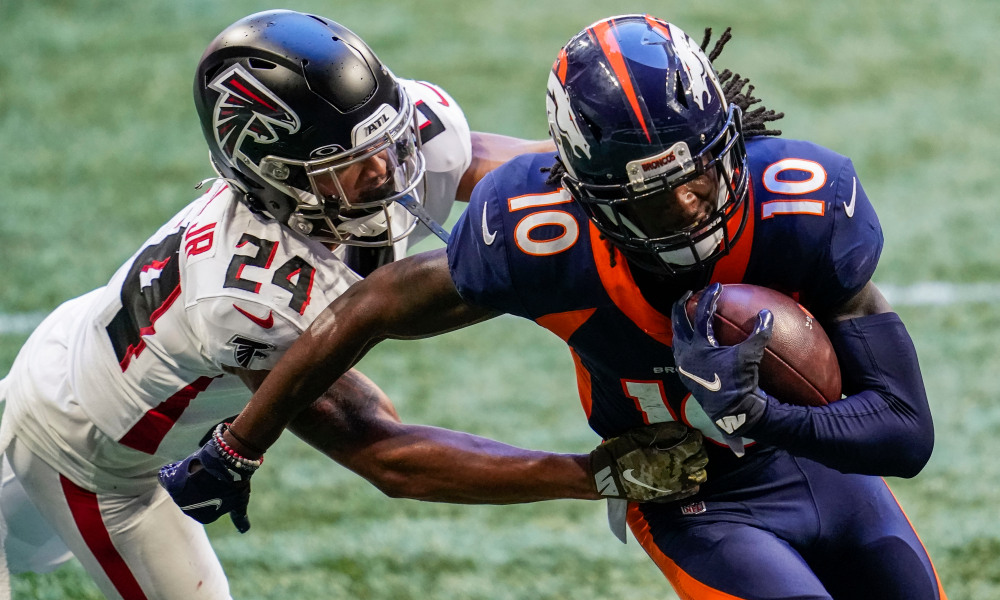 Jerry Jeudy scores touchdown for Broncos versus Falcons in 2020