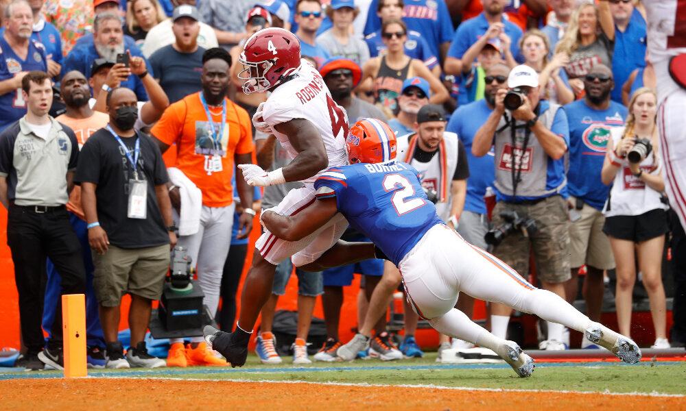 Brian Robinson run for a touchdown against Florida