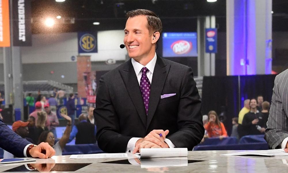 ESPN's Chris Doering on SEC Network set during 2021 SEC Media Days