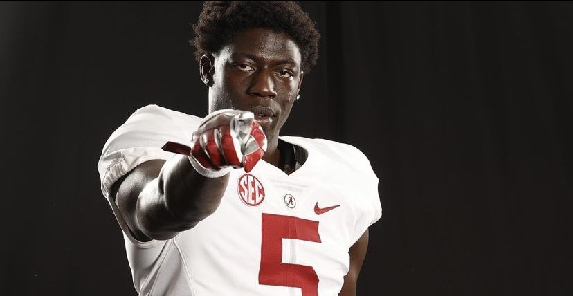 Jaleel Skinner poses for a picture during Alabama official visit